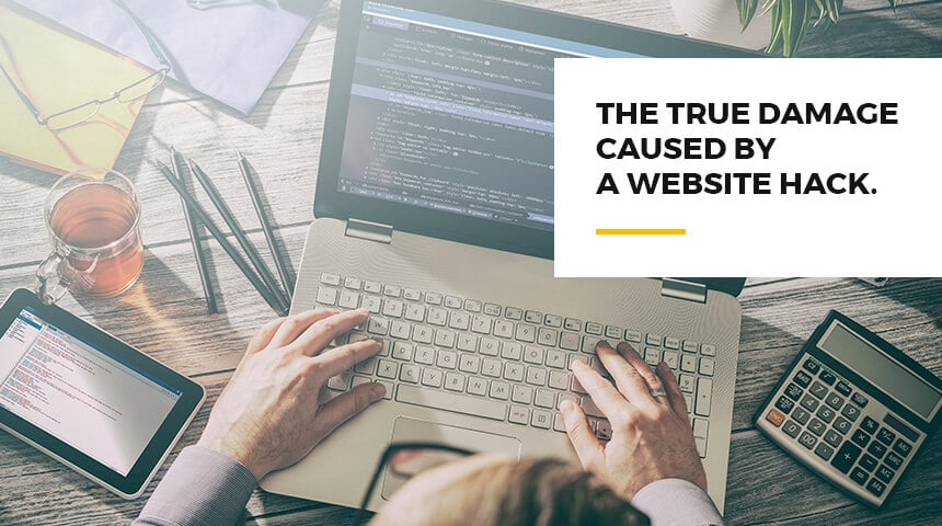 damage caused by a website hack